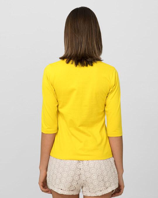 Shop Pineapple Yellow Round Neck 3/4th Sleeve T-Shirt-Design