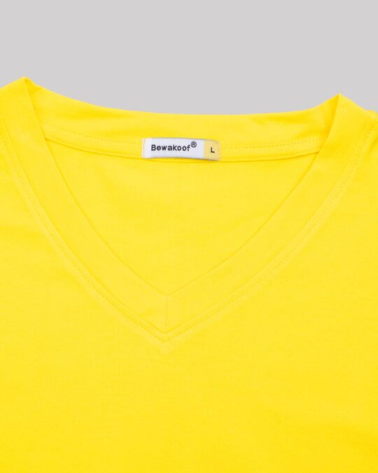 Shop Pineapple Yellow V-Neck T-Shirt
