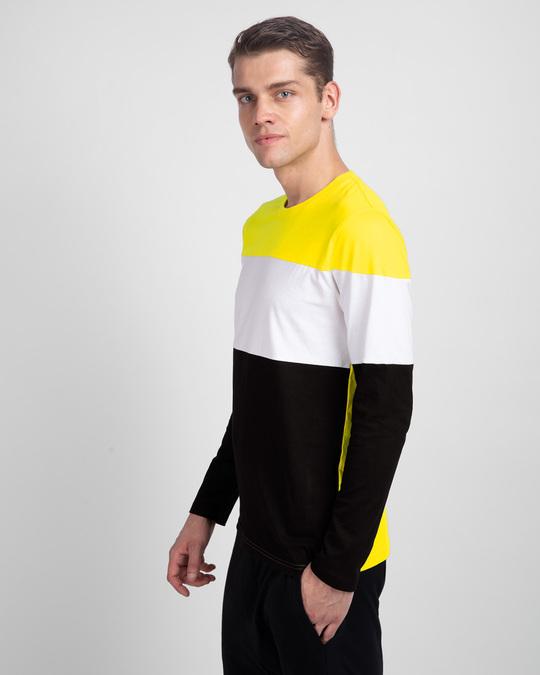 Shop Pineapple Yellow White & Black 90's Vibe Panel T-Shirt-Back