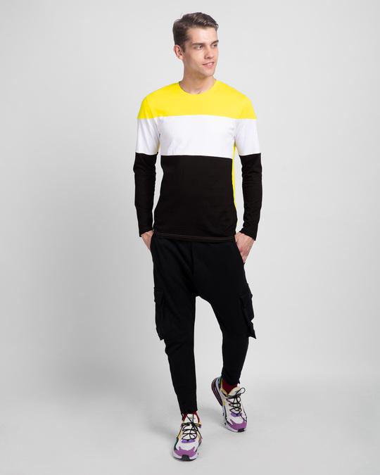 Shop Pineapple Yellow White & Black 90's Vibe Panel T-Shirt