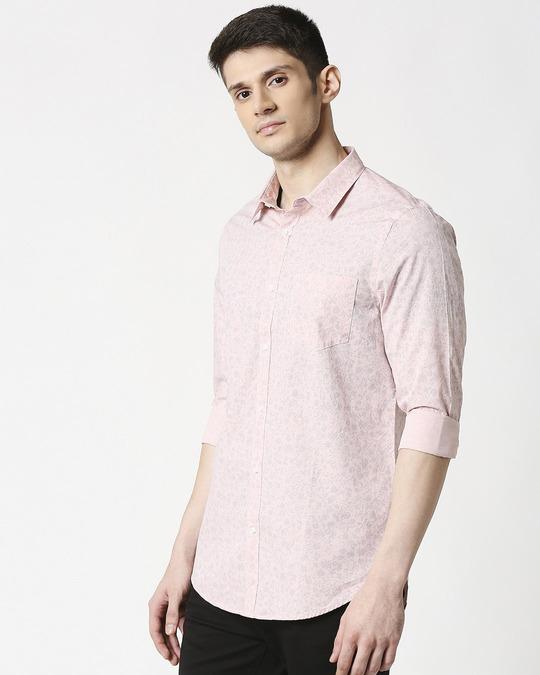 Shop Pink Blue Cotton Melange Shirt-Design
