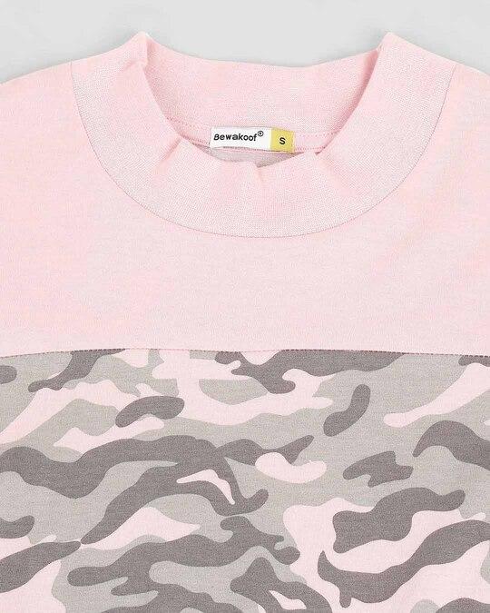 Shop Pink Camo - Coral Blush High Neck Pocket Dress