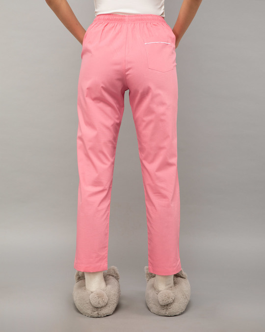 Shop Pink Carnation Plain Pyjama-Design