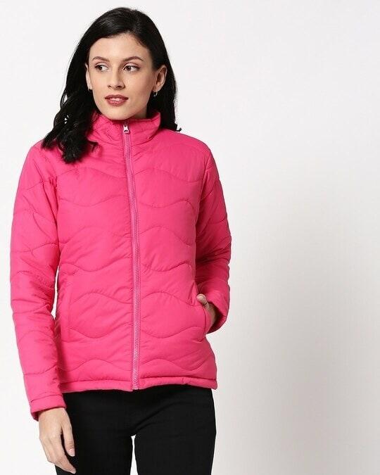 Shop Pink Chill Block Puffer Jacket
