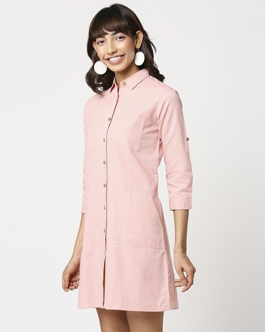 Shop Women's Linen Button Down Shirt Dress with Pockets-Design