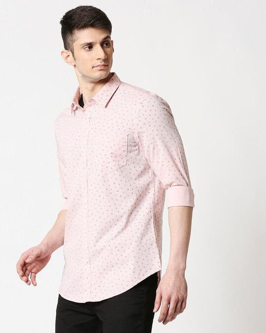 Shop Pink Cotton Melange Shirt-Design
