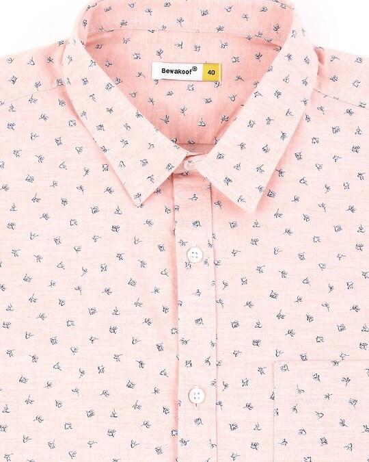 Shop Pink Cotton Melange Shirt