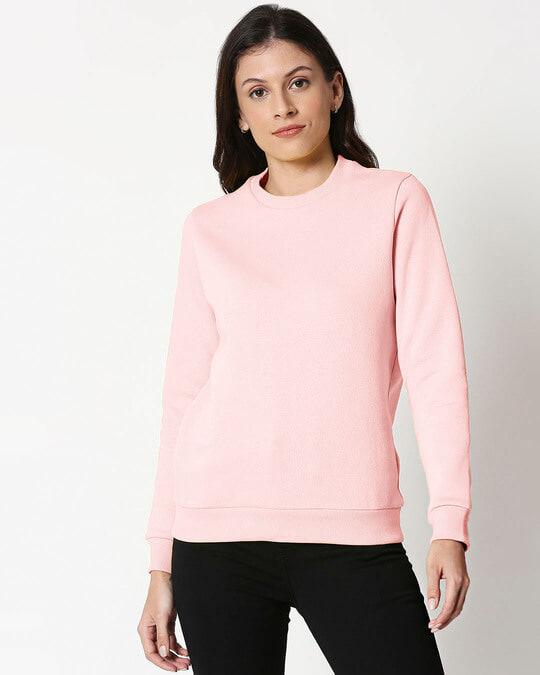 Shop PinkMelange Fleece Sweater-Front