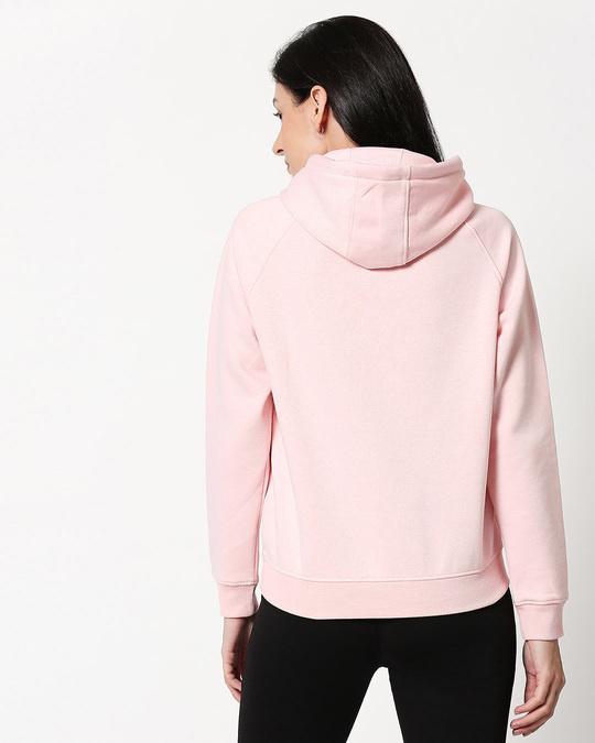 Shop Pink Melange Hoodie Sweatshirt-Full