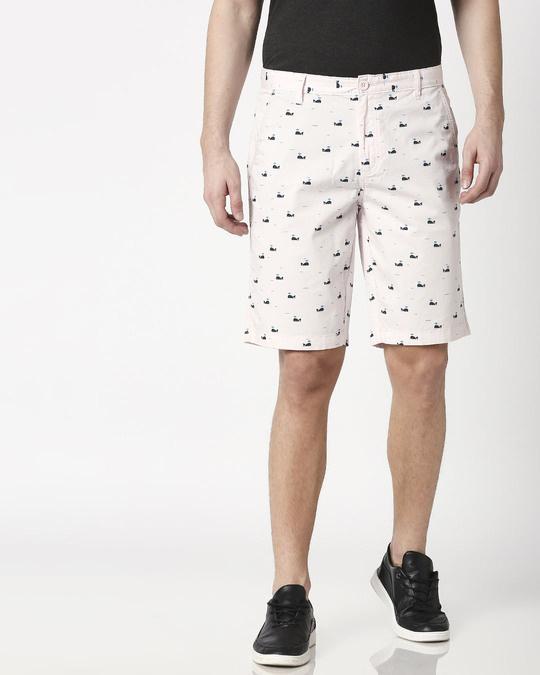 Shop Pink Whale Men's Shorts-Back