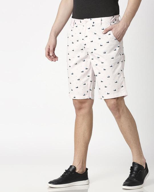 Shop Pink Whale Men's Shorts-Design