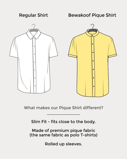 Shop Mint Green Mandarin Collar Pique Shirt-Design