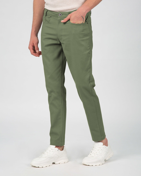 Shop Pista Green Pants-Design