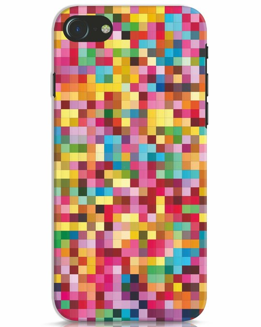 Shop Pixel Pattern iPhone 8 Mobile Cover-Front
