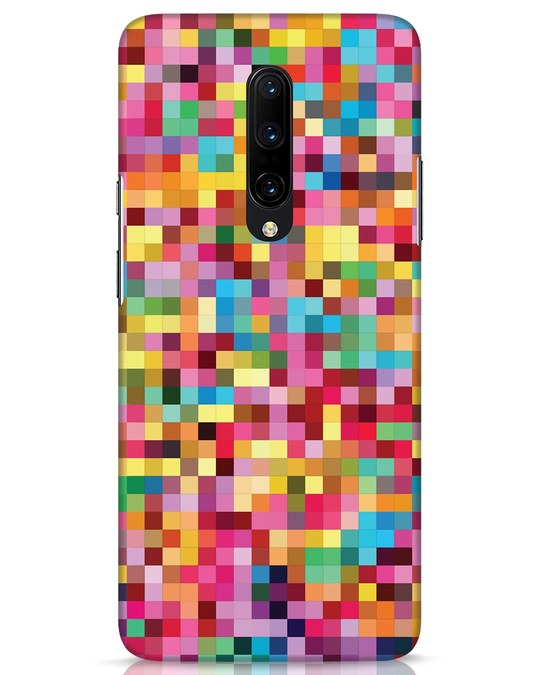 Shop Pixel Pattern OnePlus 7 Pro Mobile Cover-Front