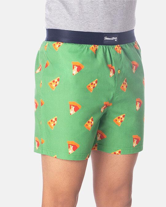 Shop Pizza Boxer Green-Back