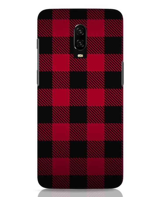 Shop Plaid OnePlus 6T Mobile Cover-Front