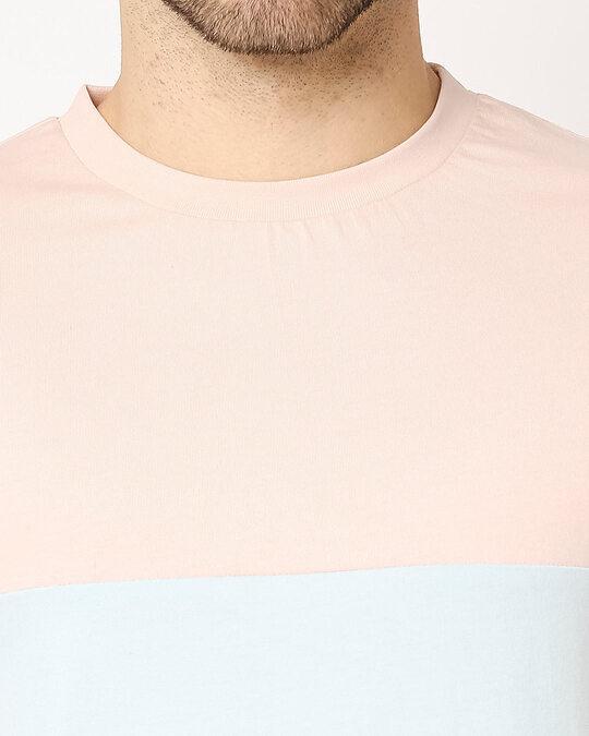 Shop Seashell Pink Candy Color Block T-Shirt