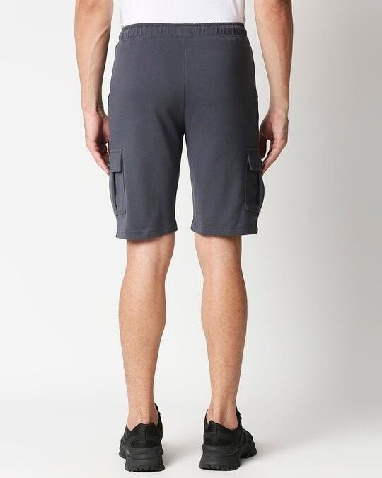 Shop Plain Cargo Shorts-Full