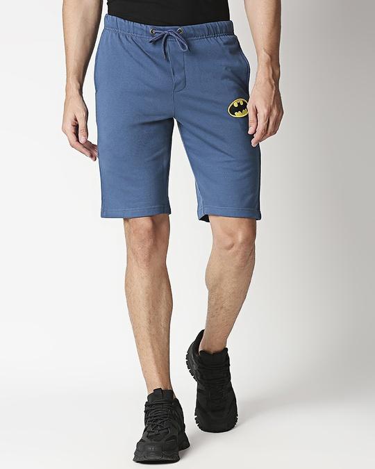 Shop Plain Casual Badge Shorts-Back
