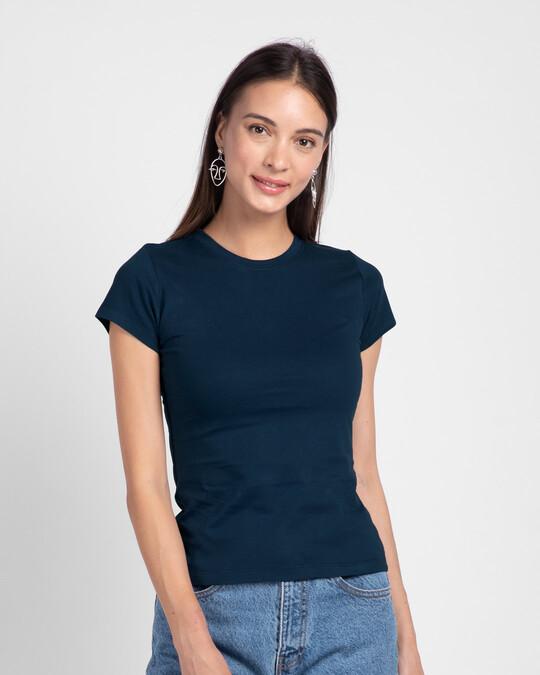 Shop Plain Half Sleeve T-shirt - Pack of 2-Design