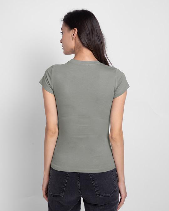Shop Plain Half Sleeve T-shirt Round Neck - Combo
