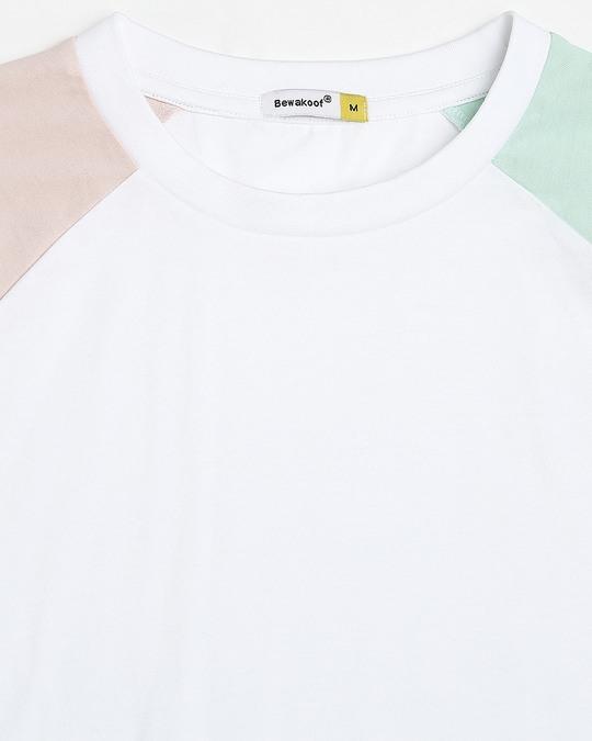 Shop White Contrast Sleeve Raglan T-Shirt