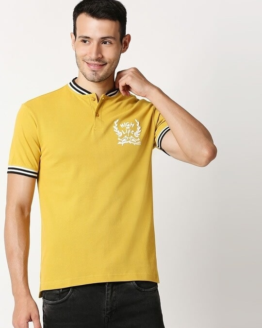 Shop High on Life Varsity Polo-Front