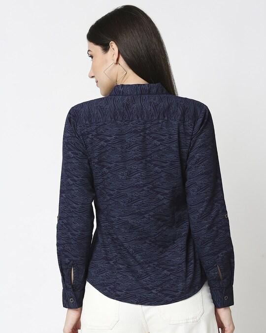 Shop Women Indigo Printed Shirt-Design