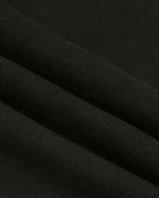 Shop Jet Black Jogger Pants With Zipper
