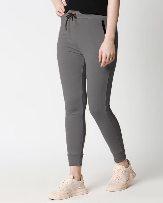 Shop Women Jogger Pants With Zipper-Front