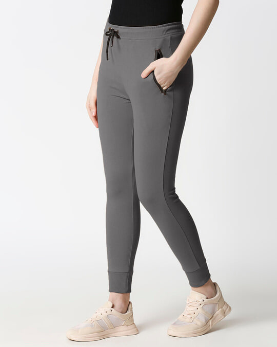 Shop Women Jogger Pants With Zipper-Design