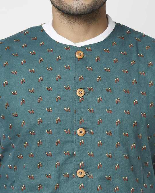Shop Men's All Over Printed Nehru Jacket