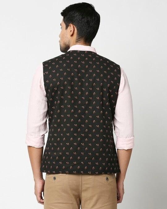 Shop Men's All Over Printed Nehru Jacket-Full