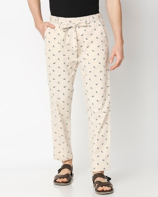 Shop Men All Over Printed Ethnic Pant-Front