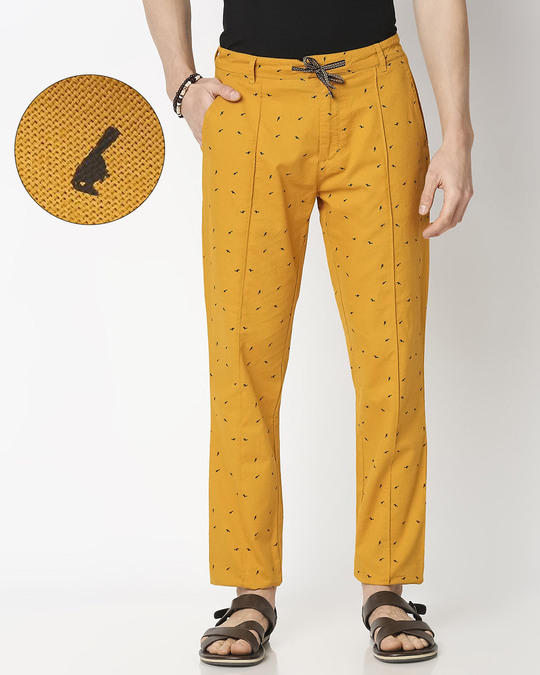 Shop Men's All Over Printed Indo Fusion Pants-Front