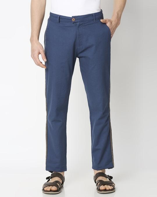 Shop Men's Solid Side Tape Indo Fusion Pants-Back