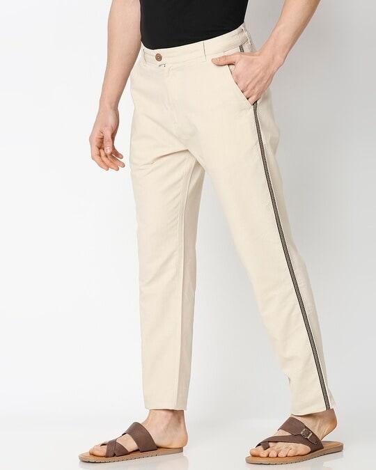 Shop Men's Solid Side Tape Indo Fusion Pants-Design