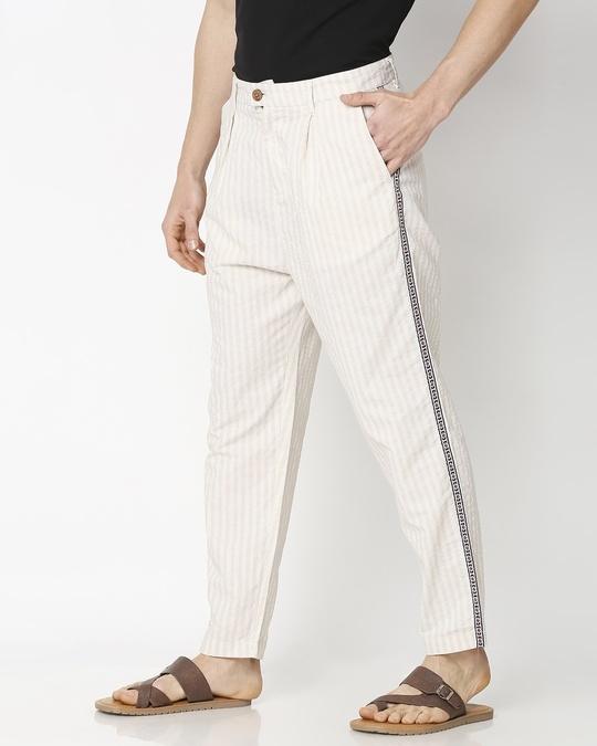 Shop Men's Ethnic Side Tape Pants-Back