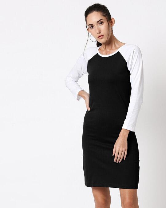 Shop Black Raglan Dress-Back
