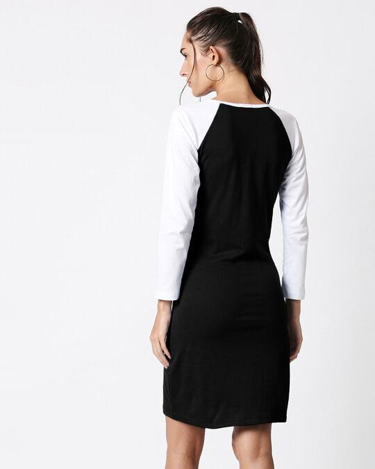 Shop Black Raglan Dress-Full