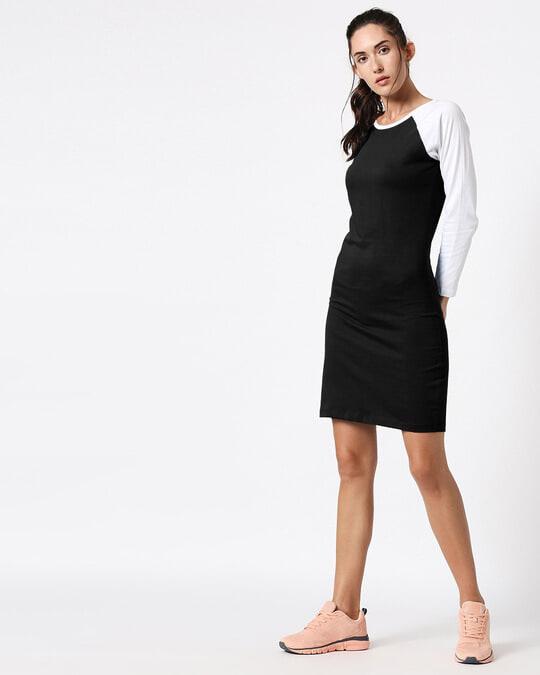 Shop Black Raglan Dress