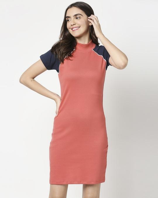 Shop Women's Rib Raglan Dress-Front