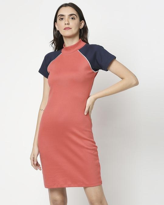 Shop Women's Rib Raglan Dress-Back