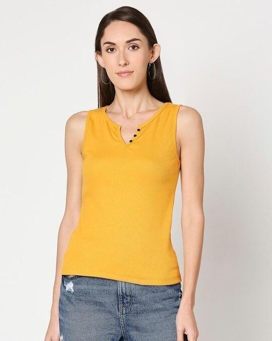 Shop Women's Sleeveless Rib T-Shirt-Back
