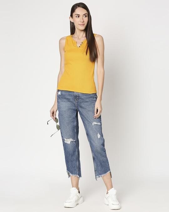 Shop Women's Sleeveless Rib T-Shirt