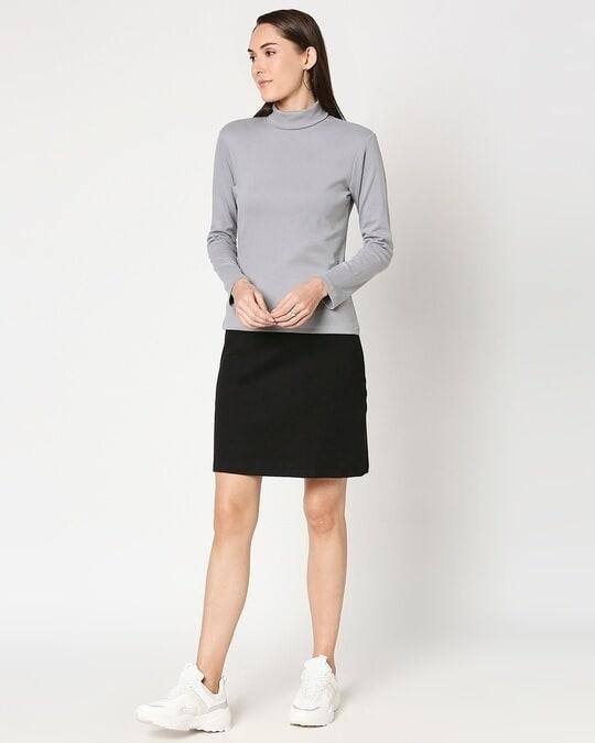 Shop Women's Slip Dress with Grey Turtle Neck Top-Design