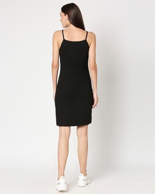 Shop Women's Slip Dress with Grey Turtle Neck Top