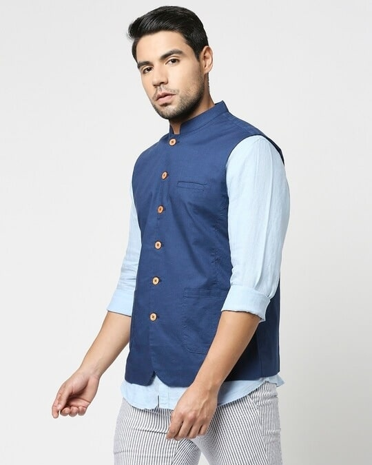 Shop Men's Solid Nehru Jacket-Design