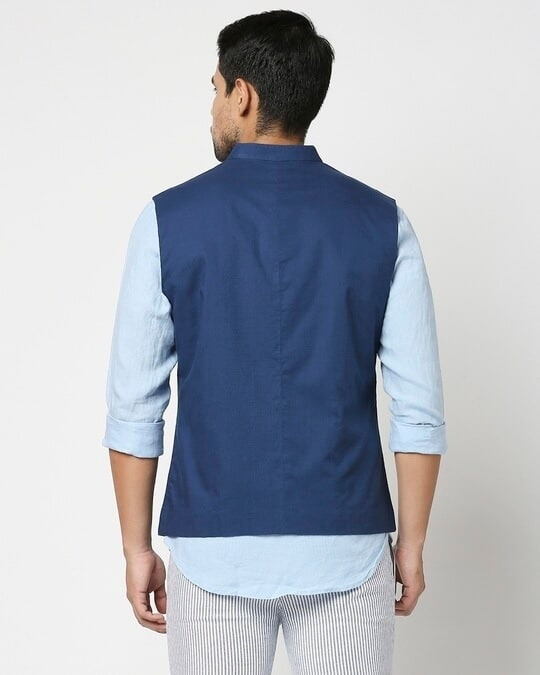 Shop Men's Solid Nehru Jacket-Full